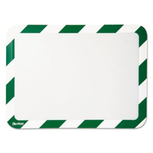Magneto Safety Frame Display Pockets w/Magnetic Back, Green/White (TFIP194945)