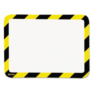 Magneto Self-Adhesive Safety Frame Display Pockets, Yellow/Black (TFIP194994)
