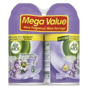 Air Wick Freshmatic Refill, Lavender/Chamomile, 6.17-oz, 6 Cans (RAC85595)