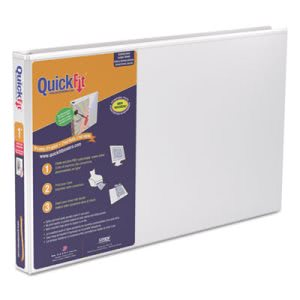 "Stride Quick Fit Ledger D-Ring Binder, 1"" Capacity, 11 x 17, White (STW94010)"