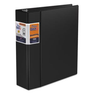 "Stride Quick Fit D-Ring Binder, 3"" Capacity, Black (STW29051)"