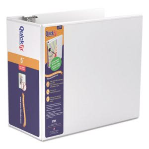 "Stride Quick Fit D-Ring View Binder, 5"" Capacity, White (STW87070)"