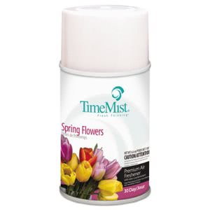 Timemist Air Freshener Dispenser, Spring Flowers, 6.6-oz, Refills (TMS1042712)