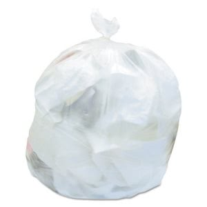 30 Gallon Clear Trash Bags, 30x35, 8mic, 500 Bags (HERV6035LNR01)