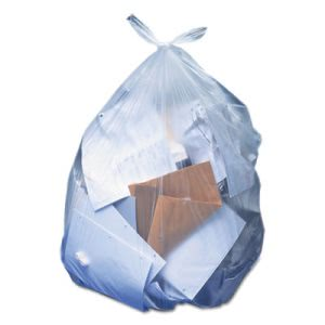 32 Gallon Clear Garbage Bags, 33x44, 0.9mil, 100 Bags (HERH6644TCR01)