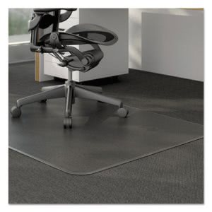 Universal Cleated Chair Mat for Medium Pile Carpet, 46w x 60l, Clear (UNV56808)