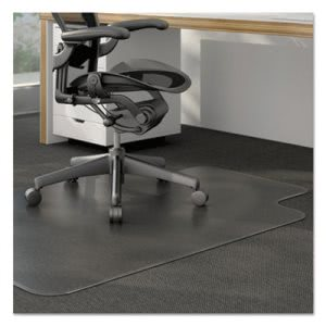 Universal Cleated Chair Mat for Low and Medium Pile Carpet, Clear (UNV56806)