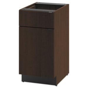 Hon Hospitality Single Base Cabinet, Door/Drawer, 18w x 24d x 36h, Mocha (HONHPBC1D1D18MO)