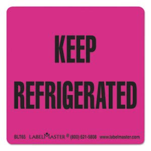 Labelmaster Warehouse Label, 3 x 3, KEEP REFRIGERATED, 500 Labels (LMTBLT65)