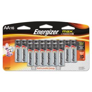 Energizer MAX Alkaline Batteries, AA, 16 Batteries/Pack (EVEE91LP16)
