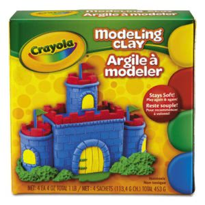 Crayola Modeling Clay Assortment, 1/4 lb each Blue/Green/Red/Yellow (CYO570300)