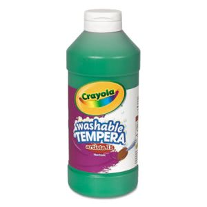 Crayola Artista II Washable Tempera Paint, Green, 16 oz (CYO543115044)