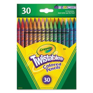 Crayola Twistables Colored Pencils, 30 Assorted Colors/Pack (CYO687409)