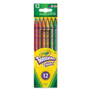 Crayola Twistables Colored Pencils, 12 Assorted Colors/Pack (CYO687408)