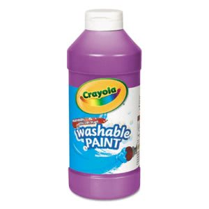 Crayola Washable Paint, Violet, 16 oz Squeeze Bottle (CYO542016040)