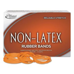 Latex Free Rubber Bands, Size 54,(Orange) 19/33/64 (Mix), 1-lb Box (ALL37546)