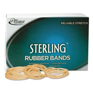 Alliance Sterling Ergonomically Correct Rubber Bands, #54, Assorted Sizes, 1lb Box (ALL24545)