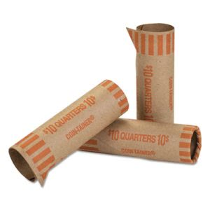 Mmf Industries Coin Rolls Quarters 10 1000 Wrappers Box Ctx20025