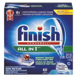 Finish 81158 Powerball Dishwasher Tabs, Fresh Scent, 4 Boxes (RAC81158)