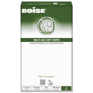 Boise X-9 Copy Paper, 92 Brightness, 8-1/2 x 14, 5000 Sheets/Carton (CASOX9004)