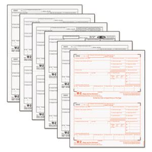 Tops W-2 Tax Form, Six-Part Carbonless, 50 Forms (TOP22991)