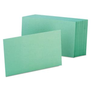 Oxford Unruled Index Cards, 4 x 6, Green, 100/Pack (OXF7420GRE)
