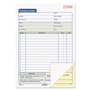 Tops Purchase Order Book, 2-Part Carbonless, 50 Sets per Book (TOP46140)
