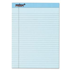 Tops Prism Plus Colored Pads,Letter, Blue, 50-Sheet Pads, 12 per Pack (TOP63120)
