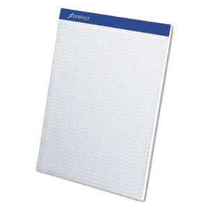 Ampad Quad Dual-Pad, Quadrille Rule, Letter, White, 100-Sheet Pad (TOP20210)