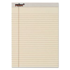 Tops Prism Colored Writing Pads, Letter, Ivory, 12 - 50 sheet Pads  (TOP63130)