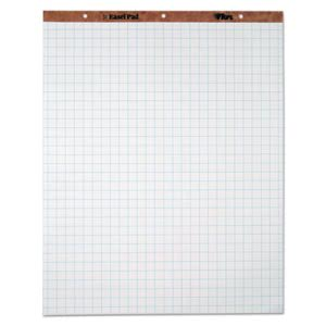 Tops Easel Pads, Quadrille Rule, 27 x 34, White, 50-Sheet Pads, 4 pads (TOP7900)