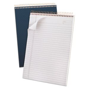 Ampad Gold Fibre Wirebound Legal Pad, Letter, Navy Cover, 70 Sheets (TOP20815)
