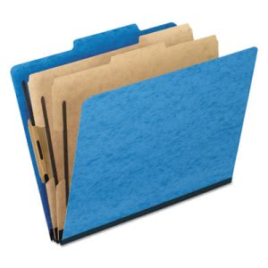 Pendaflex Pressguard Folders, Legal, 6-Section, Blue, 10 per Box (PFX2257LB)