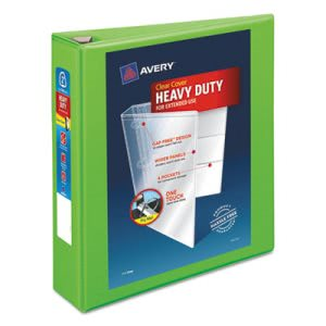 "Avery Heavy-Duty View Binder w/Locking EZD Rings, 2"" Cap, Chartreuse (AVE79776)"