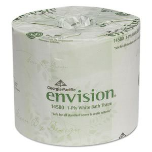 Envision Standard 1-Ply Toilet Paper Rolls, 80 Rolls (GPC1458001)
