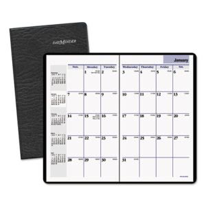 "DayMinder Recycled Monthly Planner, 3 5/8"" x 6 3/16"", 2015-2017 (AAGSK5300)"