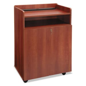 Safco Executive Mobile Presentation Stand, 29-1/2w x 20-1/2d x 40-3/4h, Cherry (SAF8919CY)