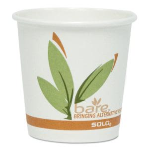 Dart Bare by Solo Eco-Forward Recycl Paper Hot Cups 10-oz, 1,000 Cups (SCC370RC)