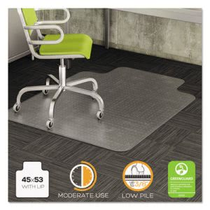 Incroyable Deflecto Chair Mat For Low Pile Carpet, 45 X 53 W/Lip, Clear (DEFCM13233COM)