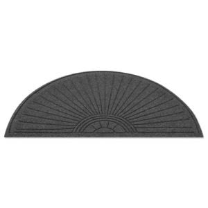 Guardian EcoGuard Diamond Floor Mat, Fan Only, 24x48, Charcoal (MLLEGDFAN020404)