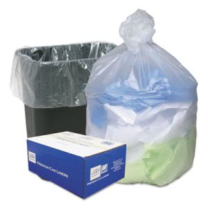 16 Gallon Natural Trash Bags, 24x32, 8mic, 200 Bags (WBIWHD2431)