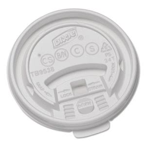 Dixie Tear-Back Plastic Lid for 8-oz. Cup, 1,000 Lids (DIX TB9538X)