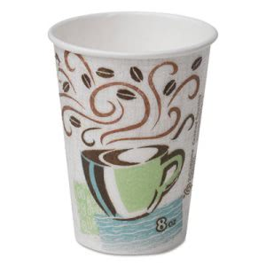 Dixie PerfecTouch 8-oz. Hot Cups, Multicolor, 1,000 Cups (DIX 5338CD)