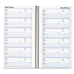 Rediform Voice Mail Wirebound Log Books, 5 5/8 x 10 5/8, 600 Sets (RED51113)