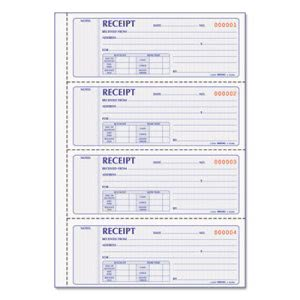 Rediform Money Receipt Book, Carbonless Duplicate, 200 Sets (RED8L806)
