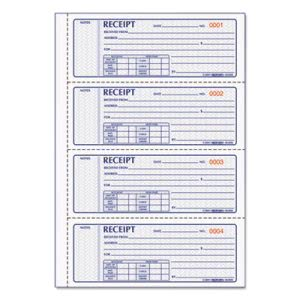 Rediform Money Receipt Book, Carbonless Triplicate, 100 Sets (RED8L808R)