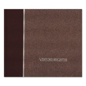 National Brand Visitor Register Book, Burgundy Hardcover, 128 Pages (RED57803)