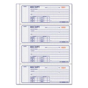 Rediform Money Receipt Book, Carbonless Triplicate, 100 Sets (RED8L808)