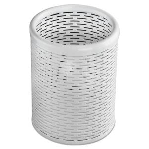 Urban Collection Punched Metal Pencil Cup, White (AOPART20005WH)
