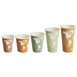 Eco-products World Art 8-oz Hot Cups, 50 per Pack, 10 Pack (ECOEPBHC8WACT)